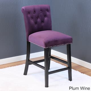 Markelo Tufted Velvet Counter Chairs Set Of 2 40 5 H X 18