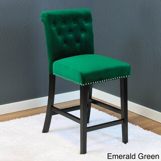 """Markelo Tufted Velvet Counter Chairs (Set of 2) - 40.5""""h x 18.5""""w x 22.5""""d"""