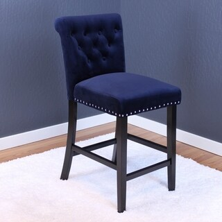 "Markelo Tufted Velvet Counter Chairs (Set of 2) - 40.5""h x 18.5""w x 22.5""d (2 options available)"