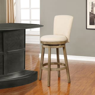 Powell Davis White Swivel Barstool|https://ak1.ostkcdn.com/images/products/14548018/P21099127.jpg?impolicy=medium
