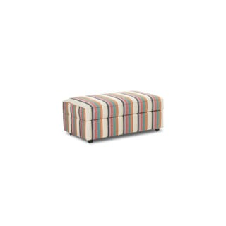 Klaussner Furniture Stella Cotton-blend Beige Storage Ottoman