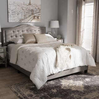 Contemporary Fabric Bed by Baxton Studio  Option  King. King Size Beds For Less   Overstock com
