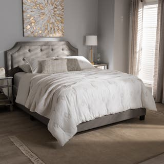 grey wood bedroom furniture. Contemporary Fabric Bed by Baxton Studio  Option Grey Bedroom Furniture For Less Overstock com