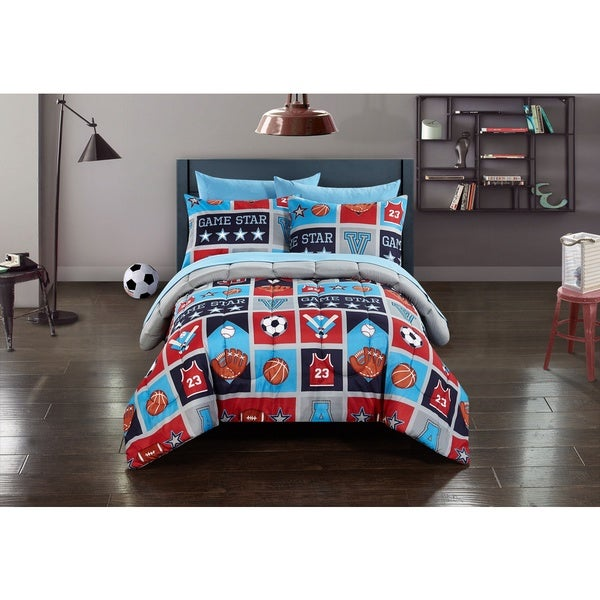 Kids Athletics 7-piece Bed in a Bag with Sheet Set