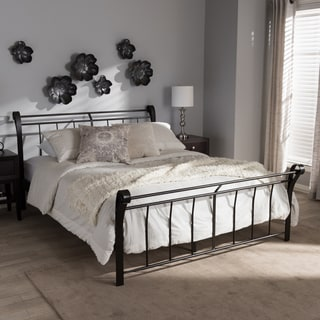 Industrial Black Bed by Baxton Studio