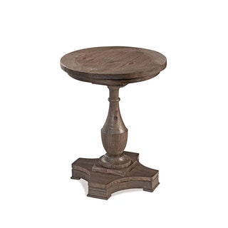Hitchcock Solid Fir Round Country End Table