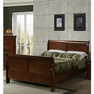 LYKE Home Cherry Sleigh Bed