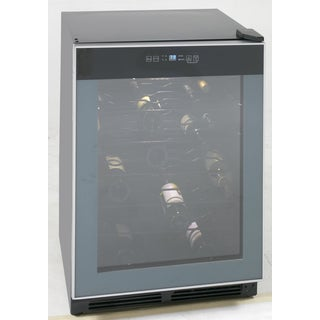 Avanti 52 Bottle Wine Cooler Black with Glass Door, Freestanding or Built-in Installation