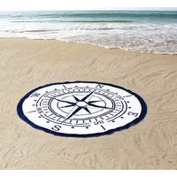 Seedling by Thomas Paul Compass Round Beach Towel