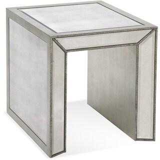 Bassett Mirror Company Murano Rectangle Glam End Table