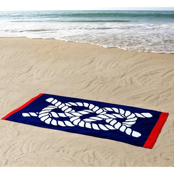Seedling by Thomas Paul Nautical Knot 100% Cotton 36x72 Beach Towel