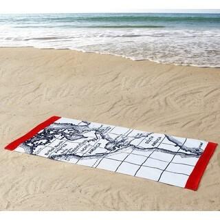 Seedling by Thomas Paul Map 100% Cotton 36x72 Beach Towel