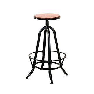 Solid Mango Wood Counter Height Stool