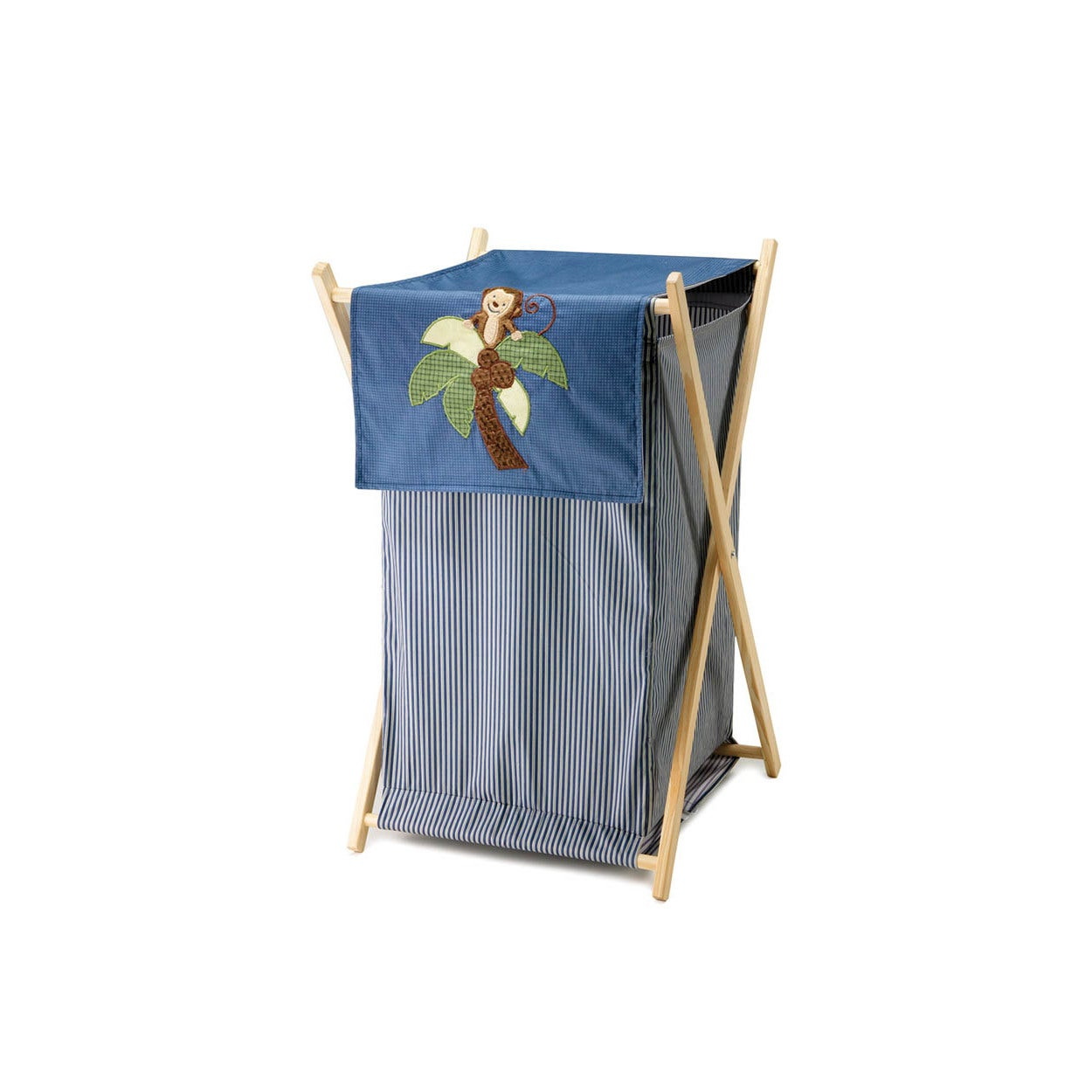 NoJo Ahoy Mate Multicolored Cotton Hamper (Hamper), Blue