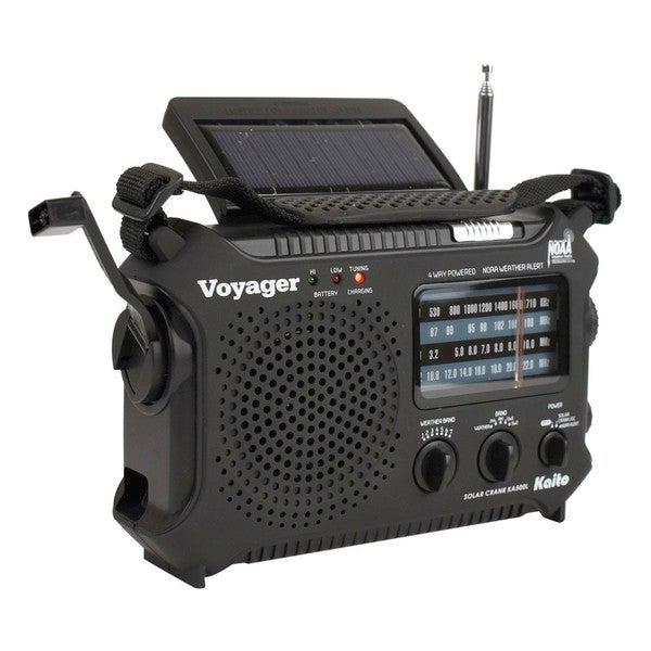 Kaito KA500 Voyager Solar Hand Crank Radio With USB
