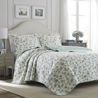 Laura Ashley Edwina Stone Quilt Set