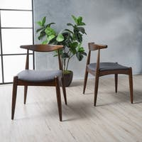 Francie Mid-Century Fabric Dining Chair (Set of 2) by Christopher Knight Home