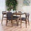 Colette Mid-Century 5-piece Wood Large Rectangular Dining Set by Christopher Knight Home