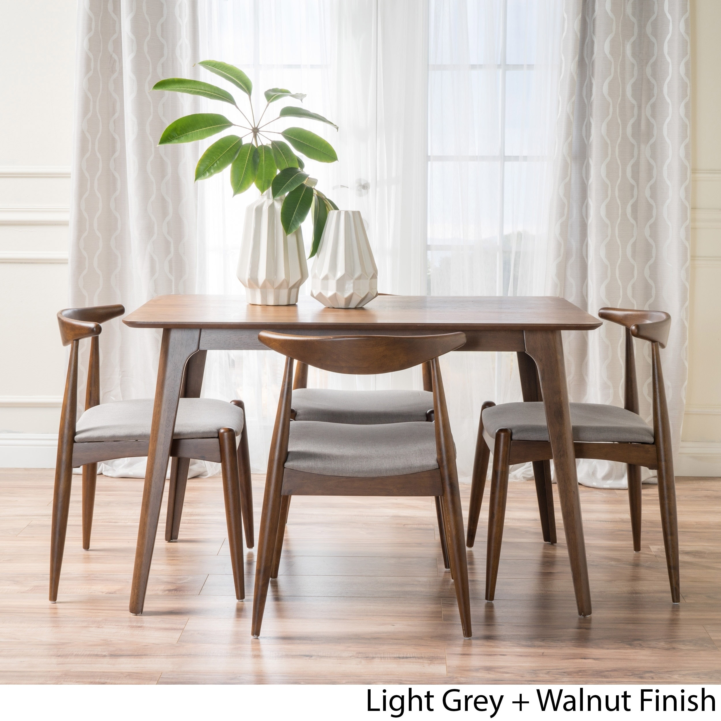 Francie 5 Piece Mid Century Dining Set By Christopher Knight Home On Sale Overstock 14549401
