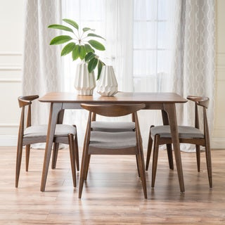 Francie Mid-Century Modern 5 Piece Dining Set by Christopher Knight Home