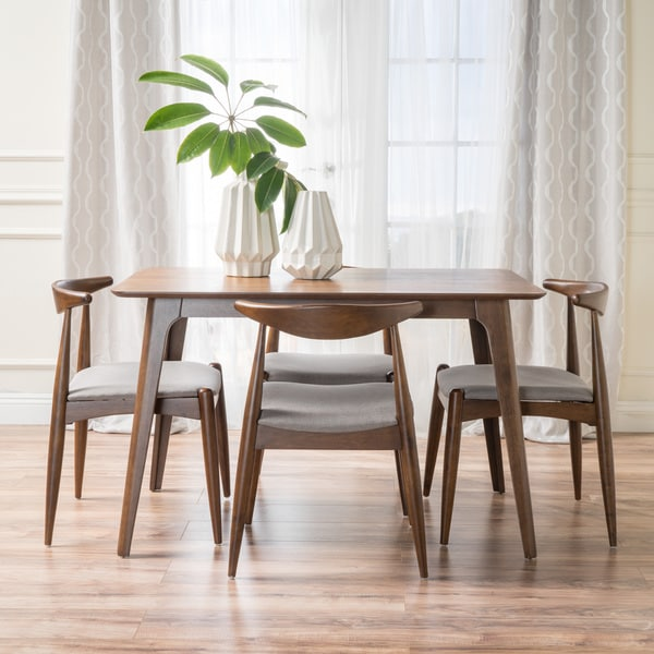 Francie 5-piece Mid-century Dining Set by Christopher Knight Home. Opens flyout.
