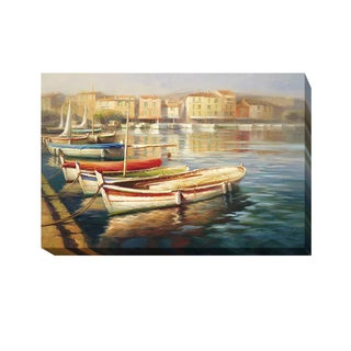 Roberto Lombardi 'Harbor Morning II' Gallery-wrapped Canvas Giclee Art