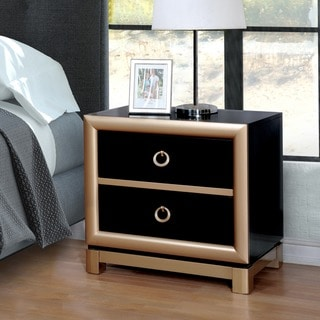 Furniture of America Kazy Contemporary Black Metal 2-drawer Nightstand