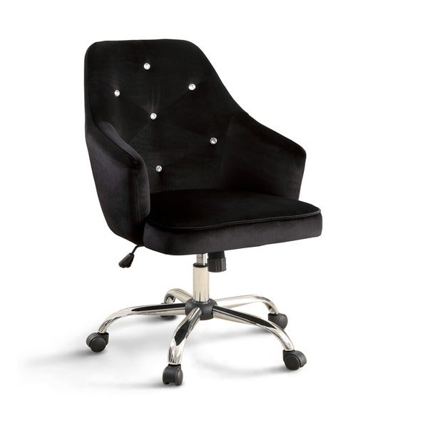 Furniture Of America Kline Contemporary Tufted Flannelette Adjustable  Barrel Office Chair   Free Shipping Today   Overstock.com   21101584