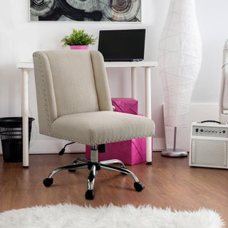 Maison Rouge Gerard Contemporary Wingback Fabric Office Chair (Option: Ivory)
