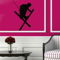 Man Boy Skier Extreme Skiing Design Vinyl Sticker Home Decor Art Murals Living Room Decor Sticker De