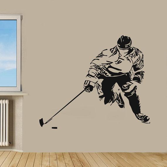 Hockey Player Sport Wall Decor Boy Room