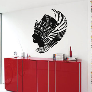 Egypt Nefertiti Egyptian Ruler Beauty Salon Vinyl Sticker Art Mural Design Make Up Decals Sticker De
