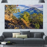 Designart 'Merbabu Volcano in Java' Extra Large Landscape Canvas Art Print - Multi-color