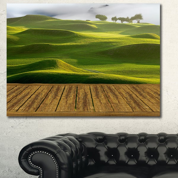 Design Canvas Art Print 'Golf Course with Wooden Path' Extra Large Landscape Canvas Art Print