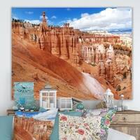 Designart 'Stunning Red Sandstone Hoodoos' Large Landscape Canvas Art Print