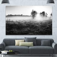 Designart 'Rural Meadow in Mist' Extra Large Landscape Canvas Art Print - multi