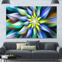 Designart 'Dancing Multi-Color Flower Petals' Extra Large Floral Canvas Art Print