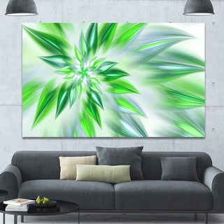 Designart 'Exotic Dance of Green Petals' Extra Large Floral Canvas Art Print