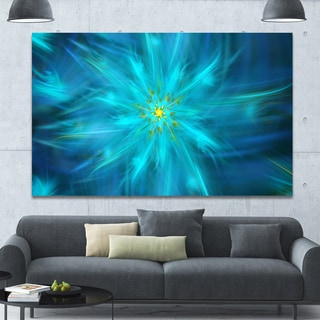 Designart 'Amazing Dance of Blue Petals' Extra Large Floral Canvas Art Print