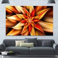 Designart 'Beautiful Brown Flower Petals' Extra Large Floral Canvas Art Print