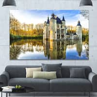 Designart 'Fairytale Medieval Castles' Extra Large Landscape Canvas Art Print - Multi-color