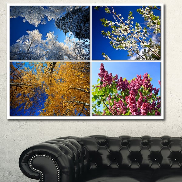 Shop Designart 'Four Seasons Of Nature Collage' Large