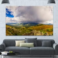 Designart 'Stormy Sky with Clouds Panorama' Extra Large Landscape Canvas Art Print - Multi-color