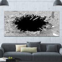 Designart 'Abstract Broken Wall 3D Design' Abstract Canvas Wall Art
