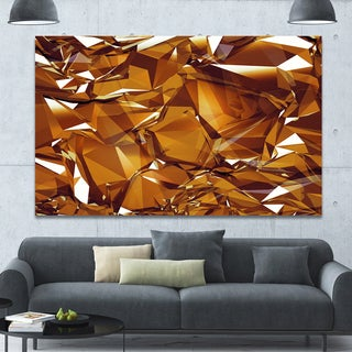 Designart '3D Gold Crystal Background' Abstract Canvas Wall Art