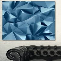 Designart '3D Abstract Geometric Background' Abstract Canvas Wall Art