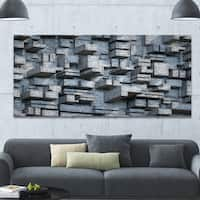 Designart 'Black Abstract Geometric Background' Abstract Canvas Wall Art