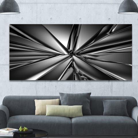 Designart 'Futuristic Crystal Background'Extra Large Abstract Canvas Art Print