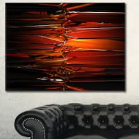 Designart 'Colorful Abstract Glass Design'Extra Large Abstract Canvas Art Print