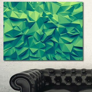 Designart 'Trendy Emerald Green Background'Extra Large Abstract Canvas Art Print - Brown